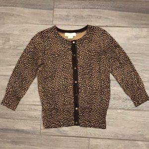 Michael Kors Cheetah Print Cardigan
